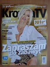 DODA / DOROTA RABCZEWSKA on front cover Polish Magazine KROPKA TV 52/2016
