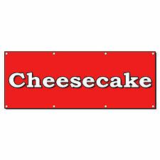 CHEESECAKE FOOD FAIR RESTAURANT 2 ft x 4 ft Banner Sign w/4 Grommets