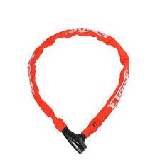 Etook Lock Cycling MTB Road Bike Lock Steel Chain Lock Anti-Theft Lock Red