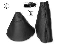 "Gear & Handbrake Gaiter For Mazda MX5 MK3 2 Panels Leather ""Miata"" Black"