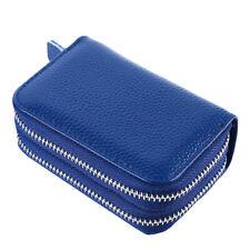 Women Mini Wallet Clutch Coin Purse PU Leather Double Zipper Credit Card Holder