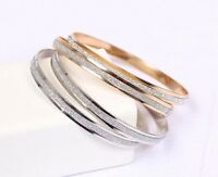 8 x Gold Diamanté Bangles Wholesale Joblot Gift Car Boot Quality Jewellery /£..