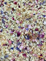 Natural Biodegradable Wedding Confetti Ivory Pink Rose Mix Petals Dried Flower