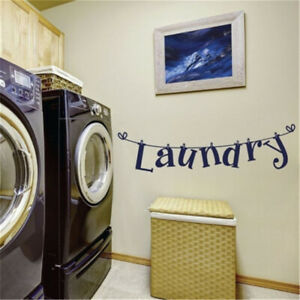 Laundry Room Fun Wall Art Sticker Vinyl Decal Kitchen Family Decor Wall Decal