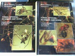 Fossile Spinnen in Bernstein 1500 Bücher aus Auflösung Jörg Wunderlich Verlag