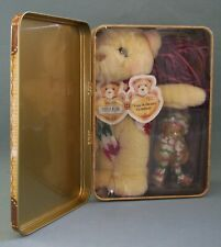 Cherished Teddies Darren Figurine And Plush Holiday Collectible Tin Retired
