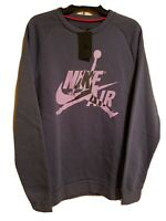 Nike Mens Air Jordan Jumpman Classic Crew Sweatshirt Sz-Lg Purple BV6006-557 NWT