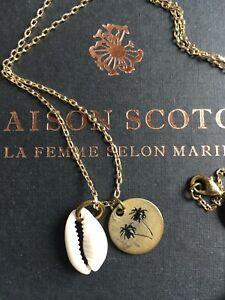 * Tolle Kette von Maison Scotch * Muschel/Medallion *