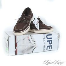 NIB Brooks Brothers x Superga Chocolate Suede Deck Boat Moccasin Shoes 9 M #22