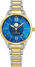 Alexander Monarch Vassilis Moon Phase MOP Women Swiss Quartz SS Watch AD204B-03
