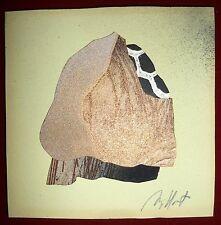 Gilou Brillant collage et assemblage de papiers découpés signée art abstrait