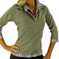 Blusenshirt Doppeloptik WOB Bluse Shirt 3/4Arm kleiner Kragen Streifenlook 36/38