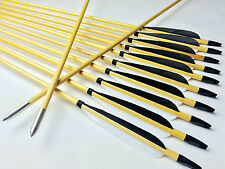 12X Handmade Wood arrows Hunting arrows Archery For Recurve Longbow Compound bow