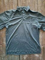 FOOTJOY Men's Blue Polyester Spandex Performance Golf Polo Shirt L Large