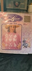 Tender Tees Look of Lace Iron on transfers. Grandma's Garden Lace & Patterns Ivo