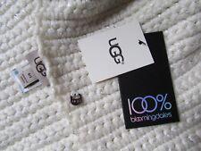 UGG Scarf Wool Blend Crochet Sequins Shearling Pom Poms NEW $165