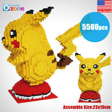 Mini DIY Pikachu Building Blocks HC Anime Block To Diamond Nano Pokemon Figure