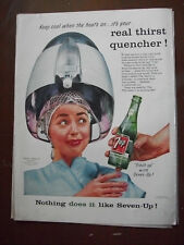 1956 VTG Original Magazine Ad 7 Up Soda Drink Keep Cool When the Heat's on