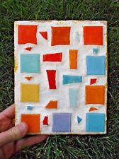 Vintage Original Tile Mosaic Pollock Picasso Era Abstract Art Cubism Plaster