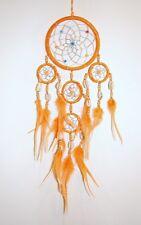 NEW HANDMADE NATIVE AMERICAN INDIAN STYLE DREAM CATCHER ORANGE/dcny11trishellora