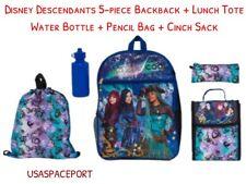5pc Disney Descendants BACKPACK+Lunch Tote+Sling Bag+Pencil Case SET School Book