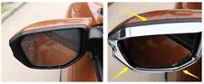 For Honda Civic 2006-2017 2pc ABS Chrome Rearview Mirror Rain Eyebrow Cover Frim