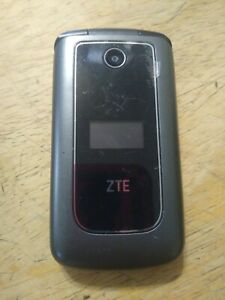 ZTE Cymbal Z233V 4G LTE speed MetroPCS Cell Phone - Gray/Black clean