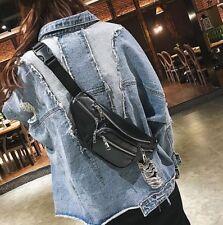 Women fanny pack Waist Bag Phone Pouch Chest bag Black New