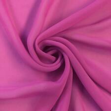 Soft Poly Chiffon Fabric (Magenta) - By The Yard - Sheer- Wholesale Price