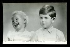 Royalty TRH Prince Charles and Princess as children RP PPC