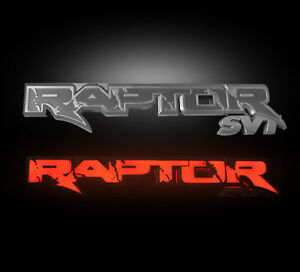 2009-2014 F150 SVT Raptor Recon Rear Tailgate Light Up Illuminated Emblem in Red