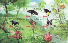 INDONESIA  Butterflies Mini Sheet  MINT NH
