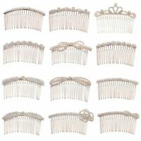Crystal Hair Combs Love Shaped Crown Butterfly Hairpins Rhinestone Hair Clips