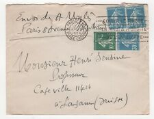 1926 FRANCE Cover PARIS Place Chopin to LAUSANNE SWITZERLAND Slogan