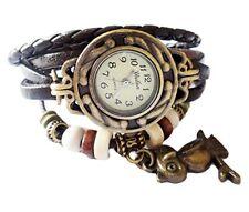 Leather Watch Weave Wrap Around Retro Bracelet Lady Woman's Wrist Watch   …