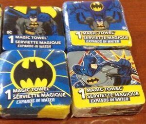 Lot of (4) Different Batman Magic Towels Face Cloths DC Comics Designs May Vary