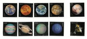 2016 #5069-78 Forever .47c View Our Planets & Pluto 10 Canceled off piece