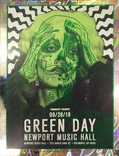 GREEN DAY Columbus, OH 2016 Rare Lava Foil Variant Concert / Gig Poster #'d /10