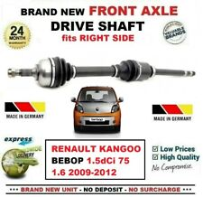 FOR RENAULT KANGOO BEBOP 1.5dCi 75 1.6 2009-2012 NEW FRONT AXLE RIGHT DRIVESHAFT