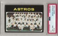 1971 TOPPS #722 ASTROS TEAM CARD, PSA 8 NM-MT ,JOE MORGAN, NICELY CENTERED, L@@K