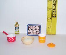 Handmade & Re-Ment For Barbie Monster High Making Cinnamon Rolls 1/6 Scale Lot