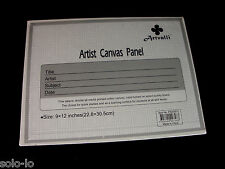 "10 Blank 9""x12"" Artist Canvas Panel Panels Board Art Drawing Wholesale Bulk Lots"