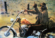 """EASY RIDER POSTER THE BIRD 37""""X24"""" OUTLAW BIKER ULTIMATE  PROTEST POSTER"""