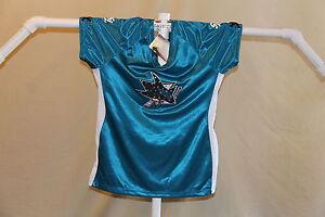 SAN JOSE SHARKS Tape To Tape FASHION JERSEY/Shirt  Womens Large  NWT $50 retail