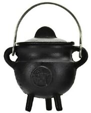 Cast Iron Ritual Cauldron Pentagram Wiccan Pagan Witchcraft Altar Supply ICBR82