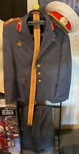 Antique SOVIET UNION MILITIA (MILITSIJA) UNIFORM Jacket, Trousers, Belt and Hat