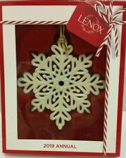 New! Lenox 2019 Annual Snowflake Fantasy Fantasies Ornament .