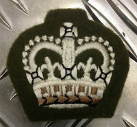 Genuine British Army No2 Staff SGT - Warrant Officers Class 2 WO2  Patch Crown