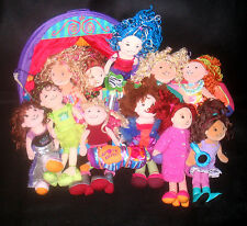 Mixed Lot 9 Groovy Girls Plush Dolls & Stage & Couch / Sofa