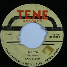 Rockabilly 45 CARL CHERRY The Itch TENE HEAR